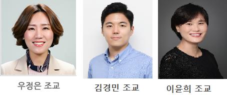 우정은,김경민,이윤희 조교